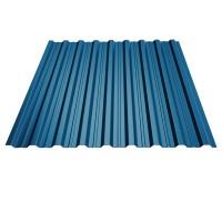 Tabla cutata, T18, albastru (RAL 5010), 0.45 mm