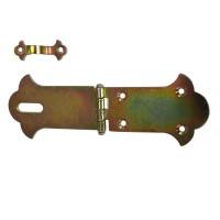Zavor ornamental pentru cufere, mare, inchidere cu lacat, zincat, 155 mm