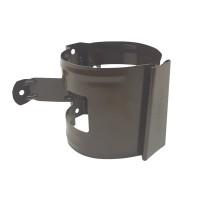 Colier pentru burlan Bilka, 90 mm, maro inchis RAL 8019