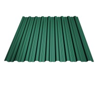 Tabla cutata, T18, verde (RAL 6005), 0.45 mm