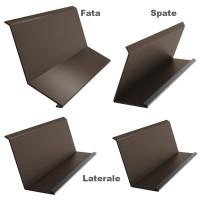 Set cos fum Bilka, 4 piese, maro inchis mat (RAL 8019), 0.5 mm