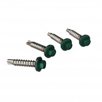 Surub pentru tigla metalica, autoforant, Bilka, verde RAL 6005, 4.8 x 35 mm, 250 bucati