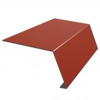 Bordura streasina Bilka, rosu maroniu mat (RAL 3009), 0,45 mm
