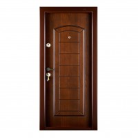 Usa interior metalica Megadoor Prestige 1 lux 154, dreapta, maro, 200 x 88 cm
