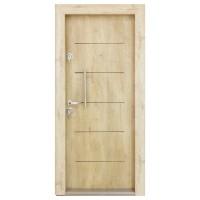 Usa interior metalica Arta Door 302, dreapta, stejar, 201 x 88 cm