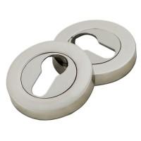 Rozeta rotunda pentru usa interior Arta door, aliaj metalic, cromat, D = 55 mm