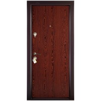 Usa interior metalica Megadoor Prestige 1 lux 00, dreapta, wenge, 200 x 88 cm