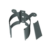 Colier pentru burlan Bilka, 100 mm, gri inchis RAL 7011