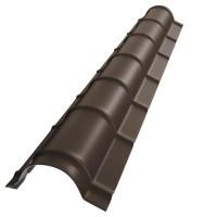 Coama mare Bilka, maro inchis mat (RAL 8019), 2000 x 290 x 0.5 mm
