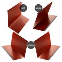 Set cos fum Bilman, 4 piese, rosu lucios (RAL 3011), 0.4 mm
