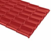 Tigla metalica Bilman, rosu lucios (RAL 3011), 2220 x 1200 x 0.4 mm