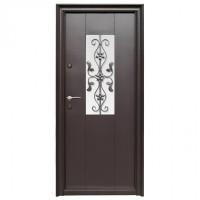 Usa metalica pentru exterior Tracia Apullum, dreapta, maro, 205 x 88 cm + accesorii