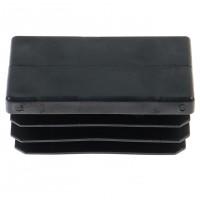 Capac nylon pentru teava rectangulara, negru, 40 x 60 mm, 10 bucati