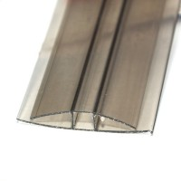 Profil policarbonat H, bronz, 4 x 6000 mm