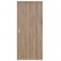 Usa culisanta Eco Euro Doors Elena, plina, gri cu fibra, 95 x 206 cm + maner ingropat