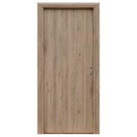 Usa interior celulara, Eco Euro Doors R80 Elena, stanga, gri cu fibra, 202 x 76 x 4 cm cu toc rotunjit