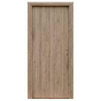Usa interior celulara, Eco Euro Doors R80 Elena, stanga, gri cu fibra, 202 x 86 x 4 cm cu toc rotunjit