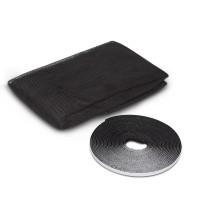 Plasa protectie insecte / tantari, Delight, pentru ferestre, poliester, negru, 100 x 130 cm