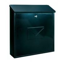 Cutie postala pentru interior / exterior Rottner Firenze, tabla otel, negru, 36.5 x 11.5 x 39 cm