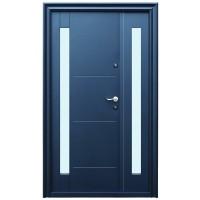 Usa metalica pentru exterior Tracia Pontus dubla, stanga, gri antracit, 205 x 120 cm + accesorii