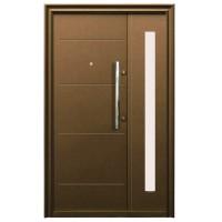 Usa metalica pentru exterior Tracia Traiana dubla, stanga, diverse culori, 205 x 120 cm + accesorii