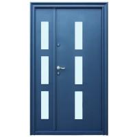 Usa metalica pentru exterior Tracia Danubius dubla, dreapta, diverse culori, 205 x 120 cm + accesorii