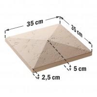 Capac stalp gard Star Stone, Roma, 350 x 350 x 50 mm