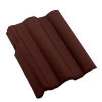 Tigla laterala stanga Bramac Skandia, maro roscat, 330 x 420 mm