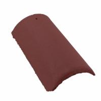 Tigla de coama Bramac Skandia, suprafata Standard, maro roscat
