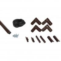 Kit rama plasa insecte / tantari, Far Est, pentru ferestre, aluminiu, maro, 1 x 2 m
