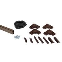 Kit rama plasa insecte / tantari, Far Est, pentru usi, aluminiu, maro, 1 x 2.5 m