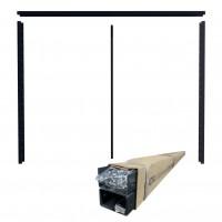 Cadru gard tip jaluzea 1530 x 2000 / 80, tabla otel zincat, RAL 8017