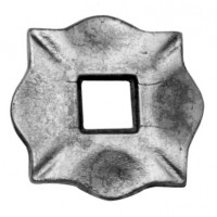 Placa stalp cu deschizatura, 100 x 100 x 10 mm