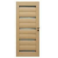Usa de interior din lemn, cu geam, BestImp G1-88 D, stejar alb, stanga / dreapta, 203 x 88 cm