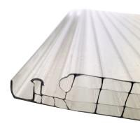 Policarbonat celular cu 4 pereti, Polyplast Click, transparent, 2000 x 250 x 16 mm