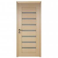 Usa de interior din lemn cu geam BestImp G3-78 D, stanga / dreapta, stejar alb, 203 x 78 cm