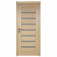 Usa de interior din lemn cu geam BestImp G3-88 D, stanga / dreapta, stejar alb, 203 x 88 cm