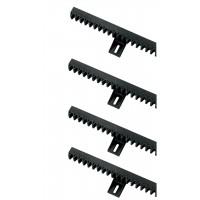 Cremaliera pentru porti culisante SN4, nailon cu insertie metalica, 1 m, 4 buc / set
