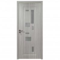 Usa de interior din lemn cu geam BestImp B02-88-N, stanga / dreapta, gri, 203 x 88 cm