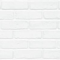 Panou decorativ Modulo Decopano White Brick, interior, alb (cutie = 2.4 mp)
