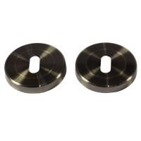 Rozeta pentru broasca cu cheie Yale, otel, antic brass, 54 mm, 2 buc / set