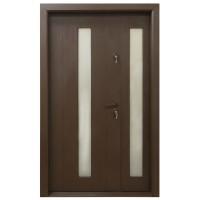 Usa metalica pentru exterior Arta Door 626D, stanga, maro, 120 x 201 cm + accesorii