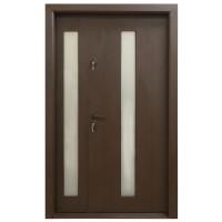 Usa metalica pentru exterior Arta Door 626D, dreapta, maro, 120 x 201 cm + accesorii