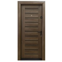 Usa metalica pentru exterior Arta Door 416, stanga, nuc + wenge, 88 x 201 cm + accesorii
