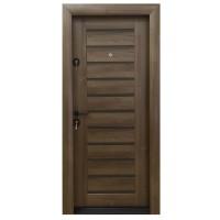 Usa metalica pentru exterior Arta Door 416, dreapta, nuc + wenge, 88 x 201 cm + accesorii