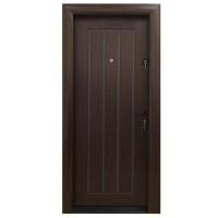 Usa metalica pentru exterior Arta Door 425, stanga, mahon + gri, 88 x 201 cm + accesorii