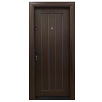 Usa metalica pentru exterior Arta Door 425, dreapta, mahon + gri, 88 x 201 cm + accesorii