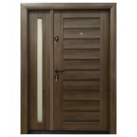 Usa metalica pentru exterior Arta Door 416D, dreapta, nuc + wenge, 120 x 201 cm + accesorii