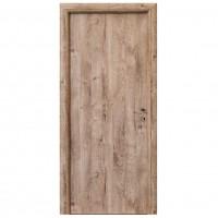 Usa interior celulara, Eco Euro Doors R80 3D, stanga, stejar, 202 x 86 x 4 cm, cu toc