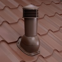 Cos pentru ventilare, Bilka Balcanic, maro (RAL 8017) lucios